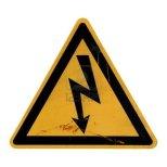 5806045-signal-de-danger-de-mort-par-electrocution-suite-a-un-choc-electrique