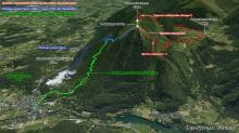 Carte-3D-Montagne-du-Rey-3-itineraires