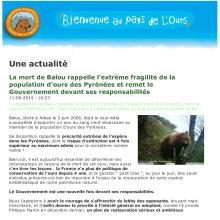 Le communiqué de l'ADET-Pays de l'Ours