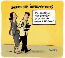 intermittents grève