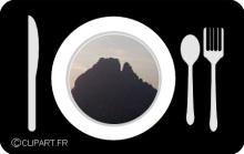 Décor  paysager d'une assiette A@P