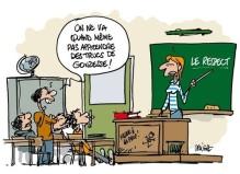dessin de Deligne pour sujet de Véronique Mars Le blues des instits (dessin de Deligne)