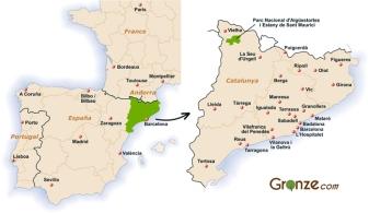 Les Encantats : Situation géographique