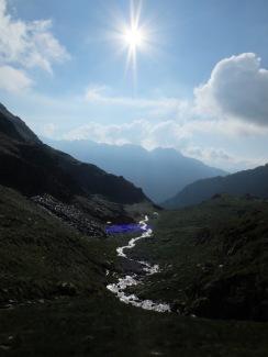Lever du soleil sur le torrent de la Mascarida