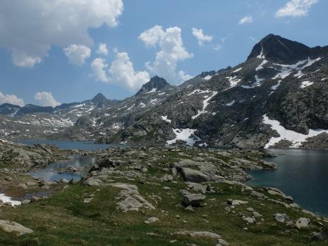 Lac de Ruis : Au fond le Bizberri (2956m)