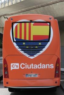 Girone : Bus de Ciudadanos, pro-Espagne